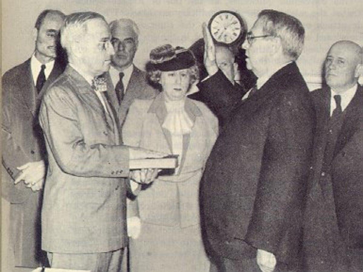 Truman Being Sworn In
