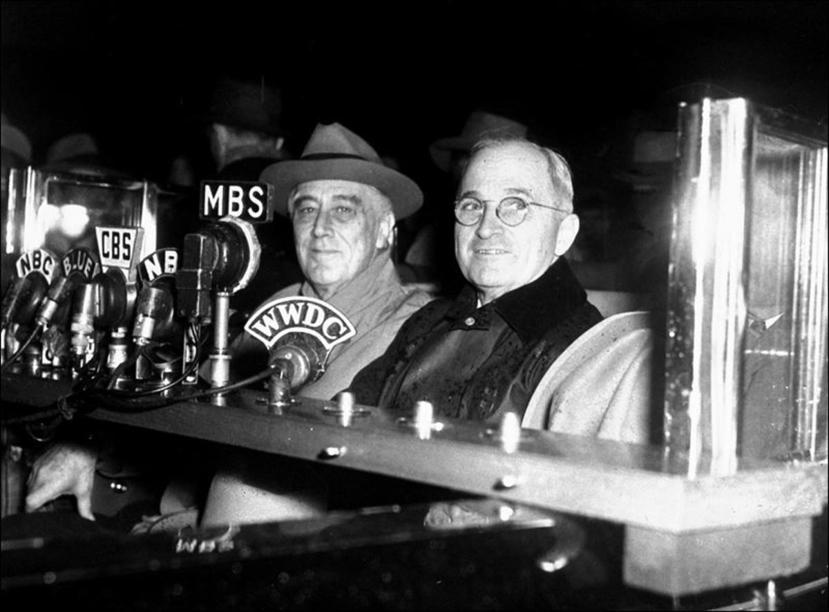 President FDR and VP Harry Truman