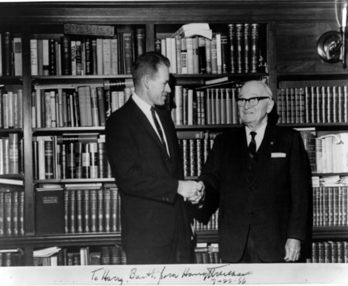 Harry Truman in the Truman Library