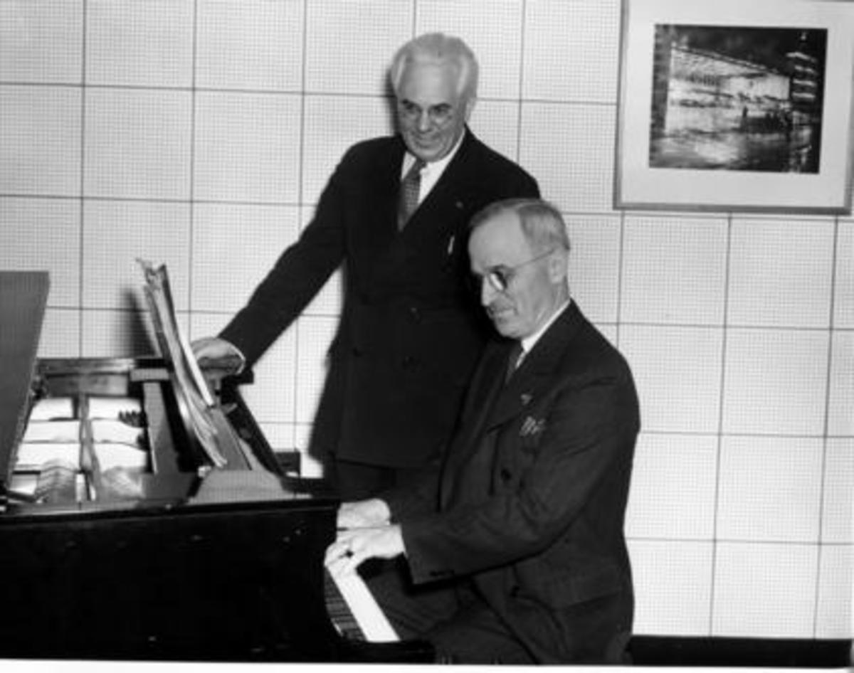 Truman playing the piano