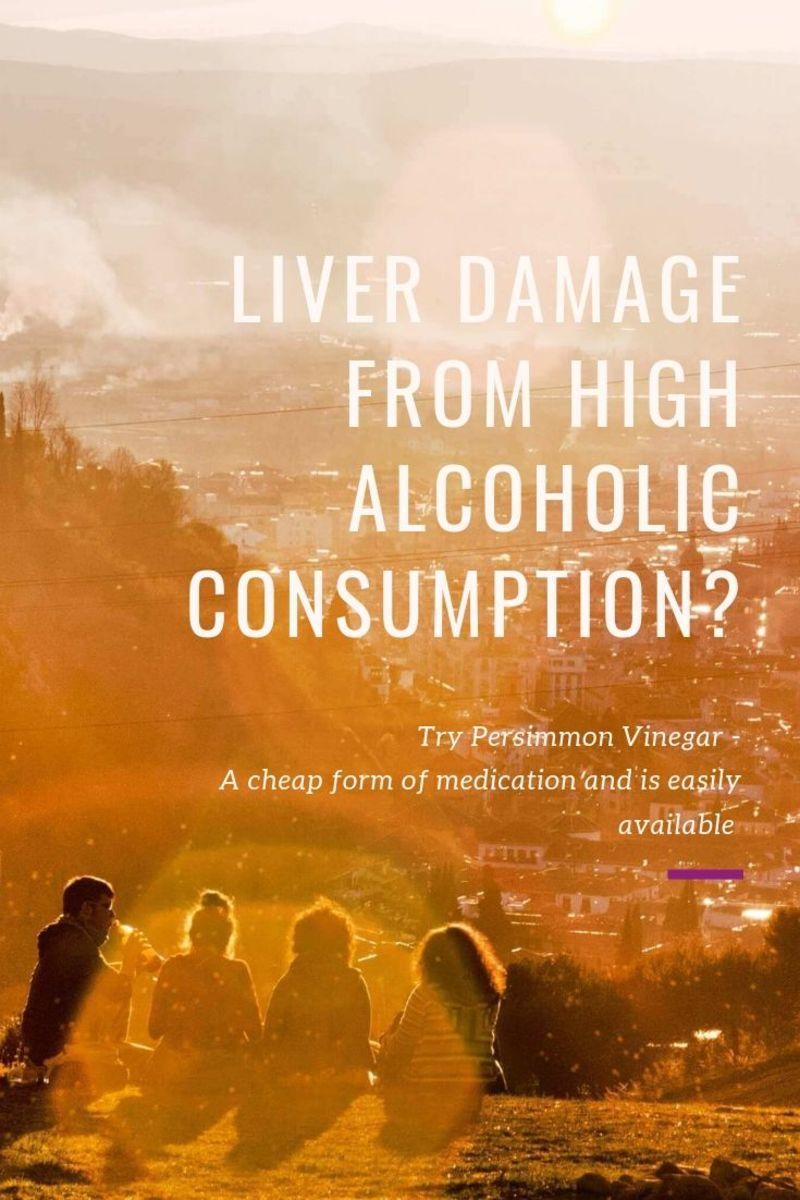 Persimmon vinegar can heals liver damage