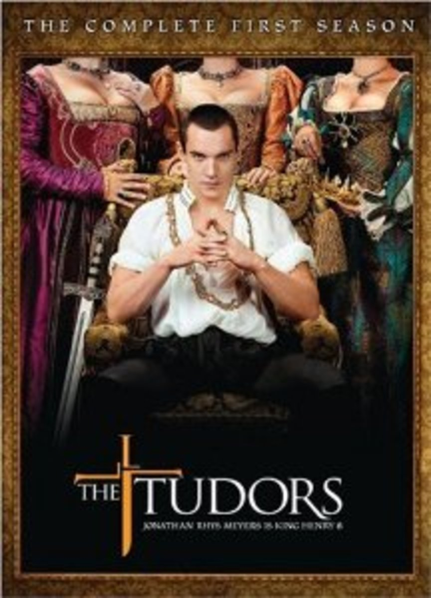 The box set of the first season of 'The Tudors'