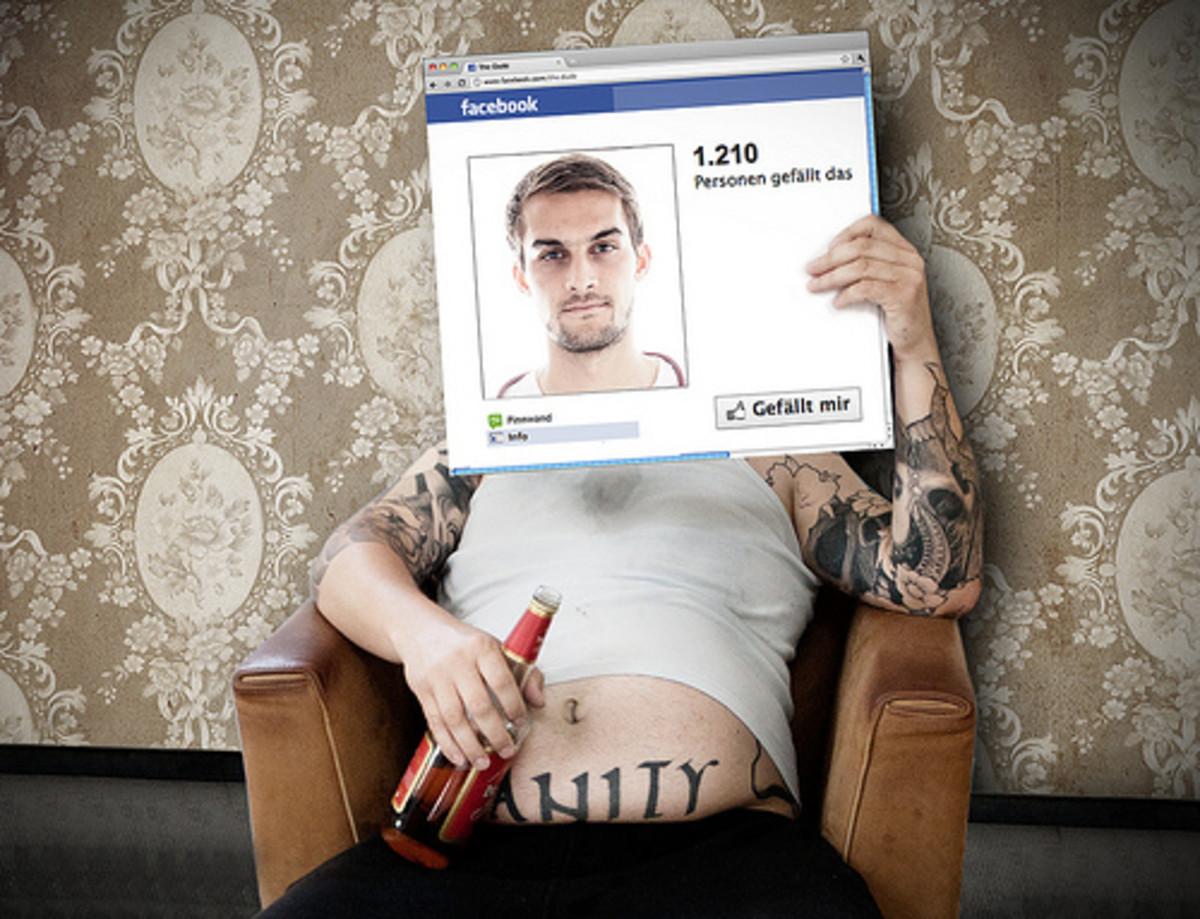 Facebook encourages vanity and deception.
