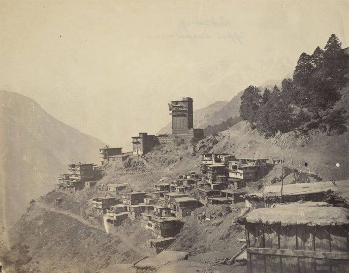 Old Photo graph of Labrang Fort in 1860