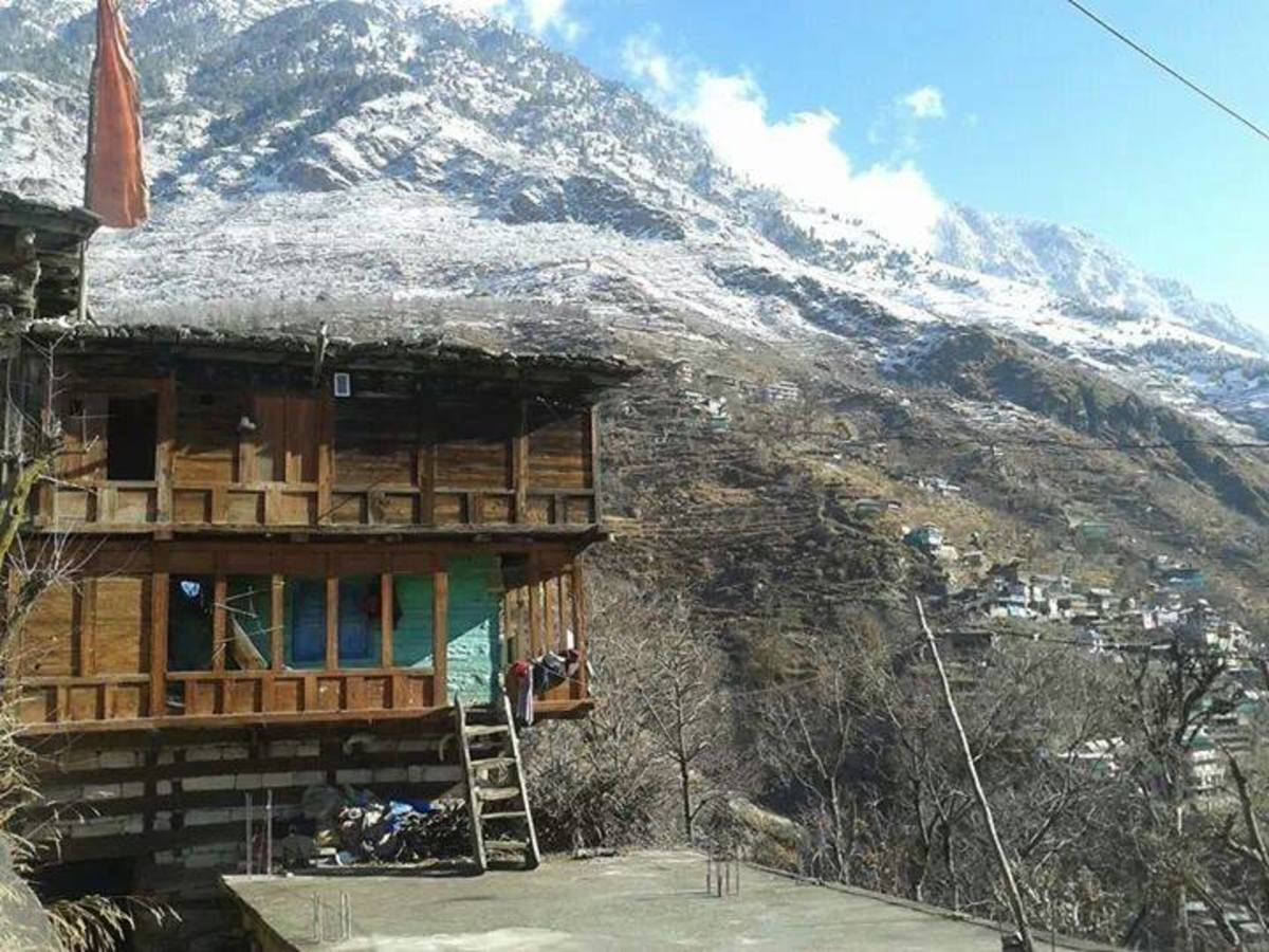 The house at Yashang in Kinnaur where the Queen of Rampur Bushahr took refuge during the Gorkha War in 1811 AD. This five story house called Thaarang is still in great condition.
