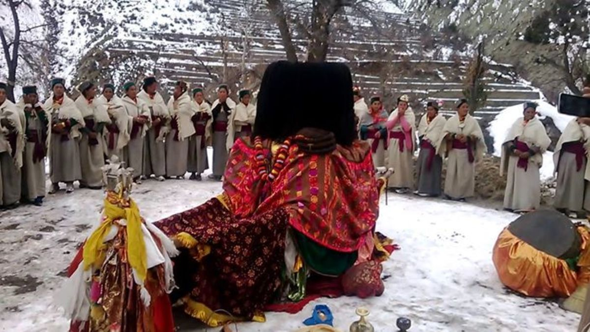 The palanquin of Devi Chandika  in Ropa Valley of Kinnaur
