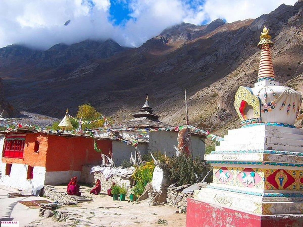 Stupa at Charang village.