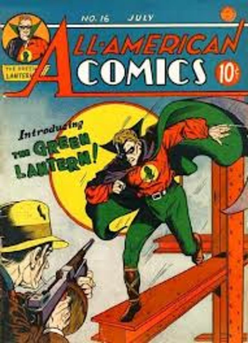 The first appearance of the Green Lantern.