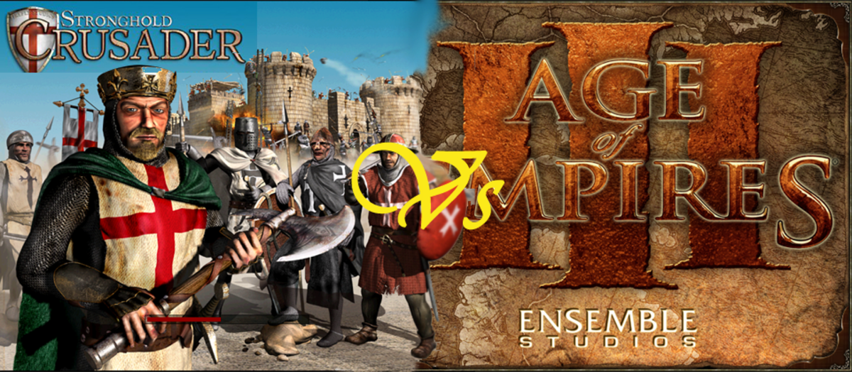Age of Empires 3 Vs Stronghold Crusaders.