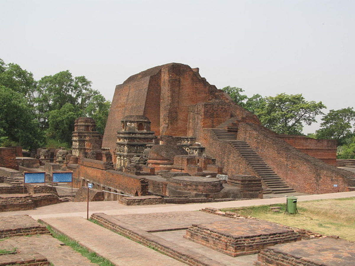 the ruins of world's first university called Nalanda University