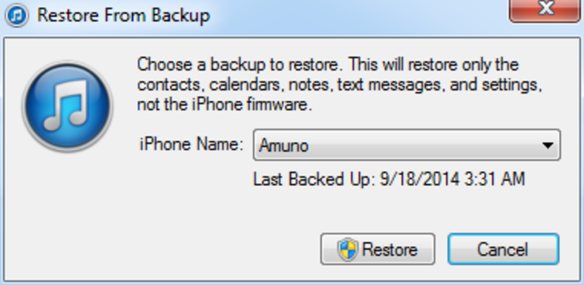 How to Restore iPhone Firmware and Backup | HubPages