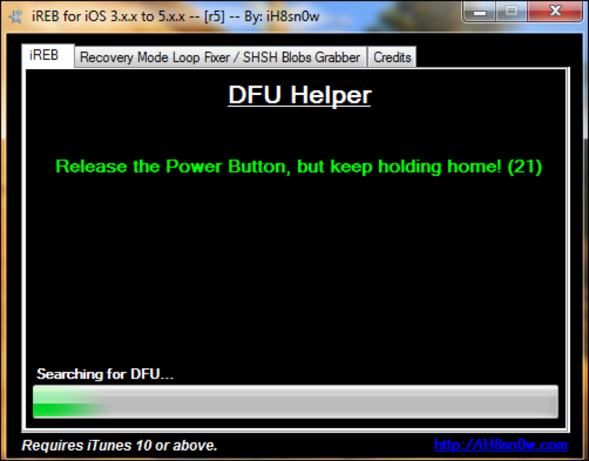 iREB shows you how to enter DFU mode
