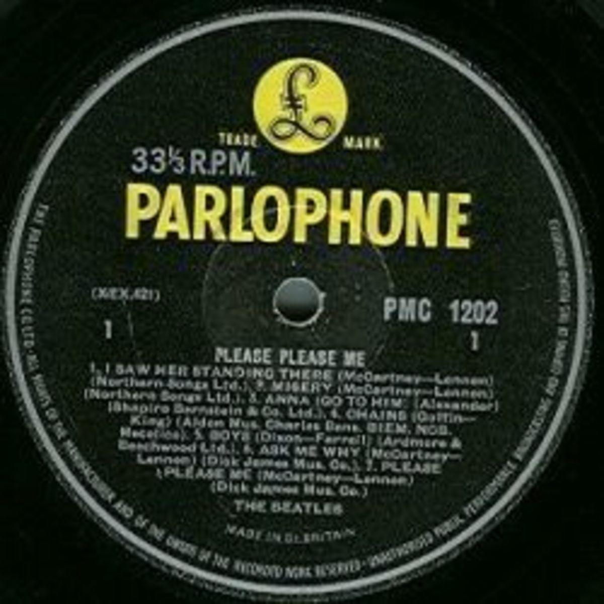 The Beatles Please Please Me Mono PMC 1202 Yellow Parlophone Vinyl Record Album