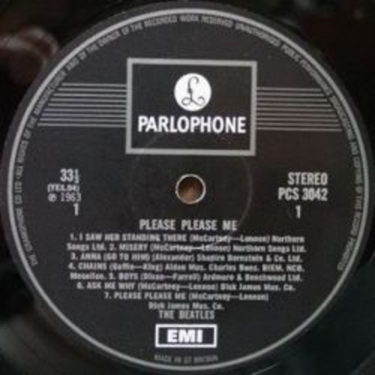 70s Parlophone Record Label & Its Variants