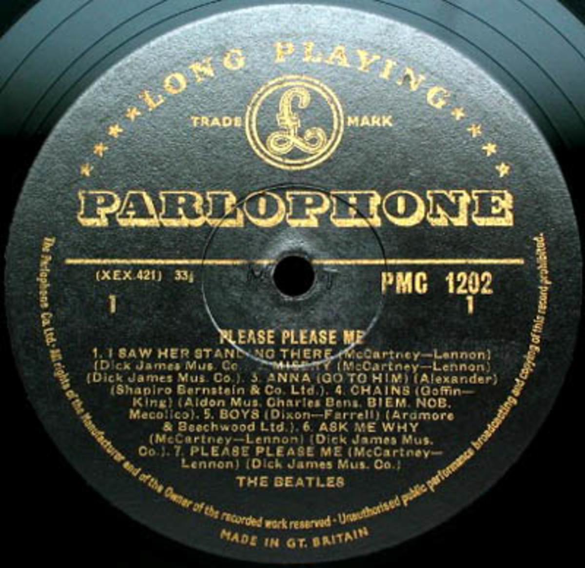 The Beatles Please Please Me Parlophone Records Mono Gold Label LP Vinyl Record