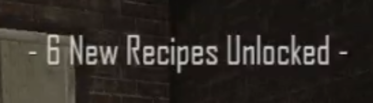 Text will appear on the screen, letting you know how many recipes you have unlocked.