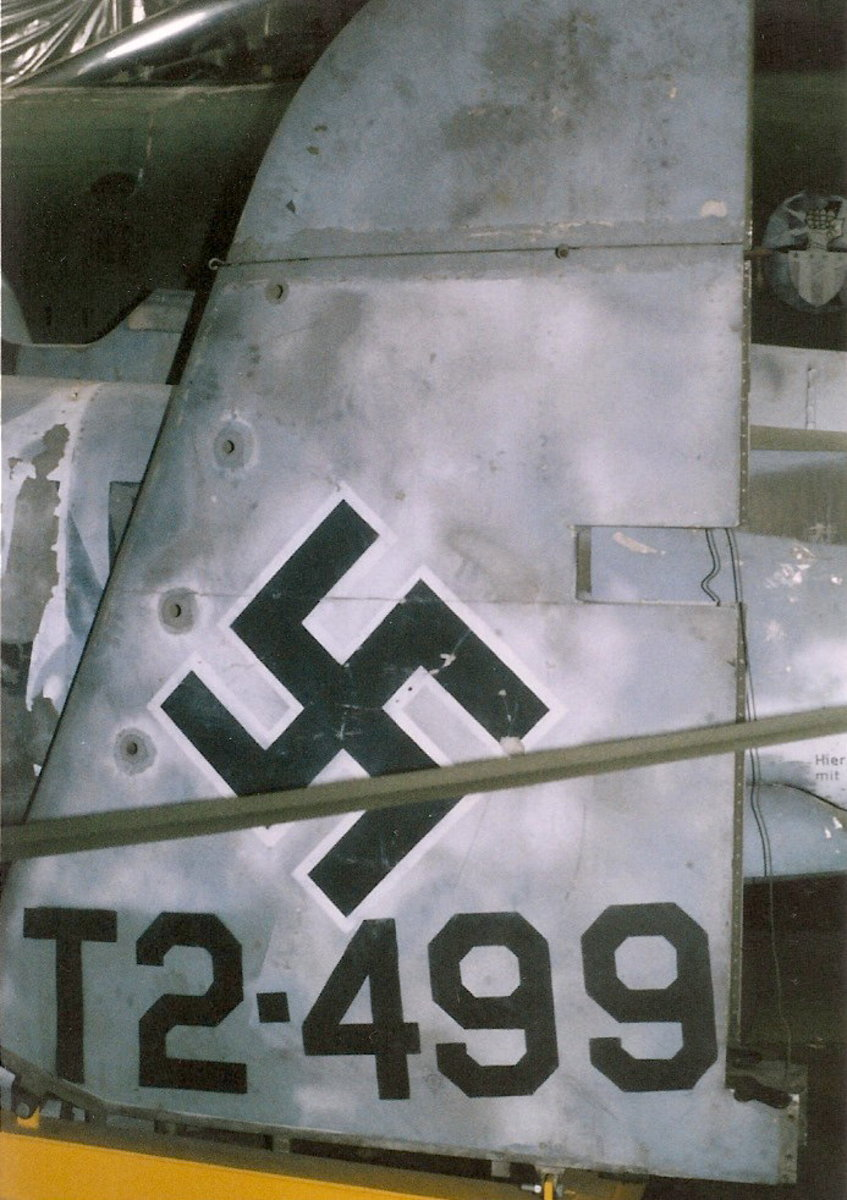 Tail of Me-410.  Paul E. Garber Facility, Silver Hill, MD, May 1998.
