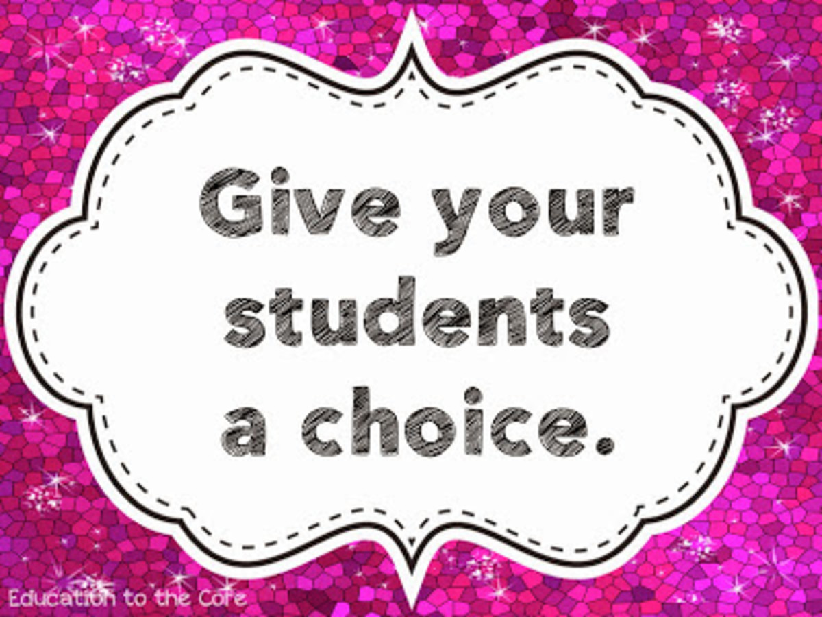 give students a choice
