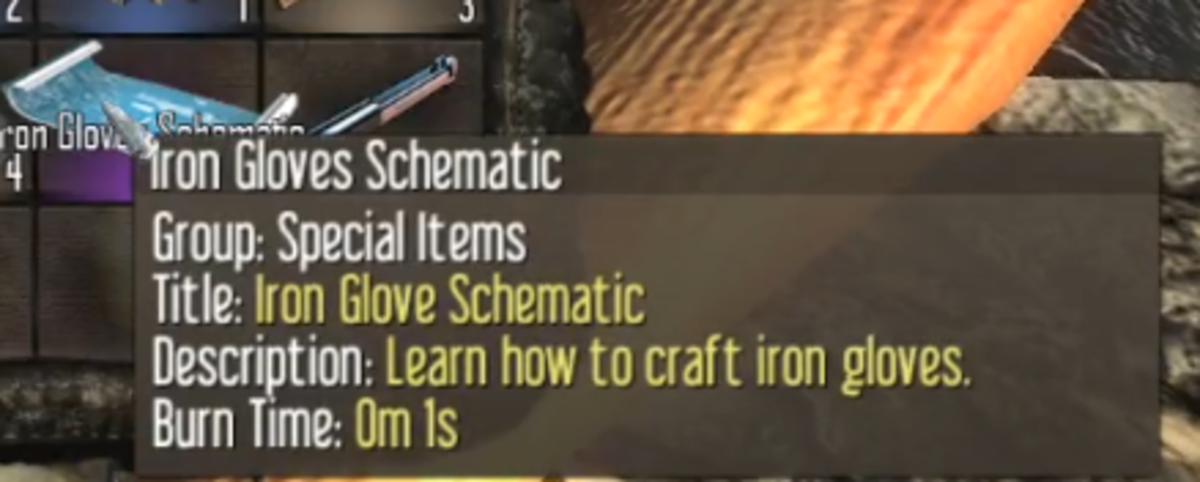 You will need to find the Schematic to craft Iron Gloves