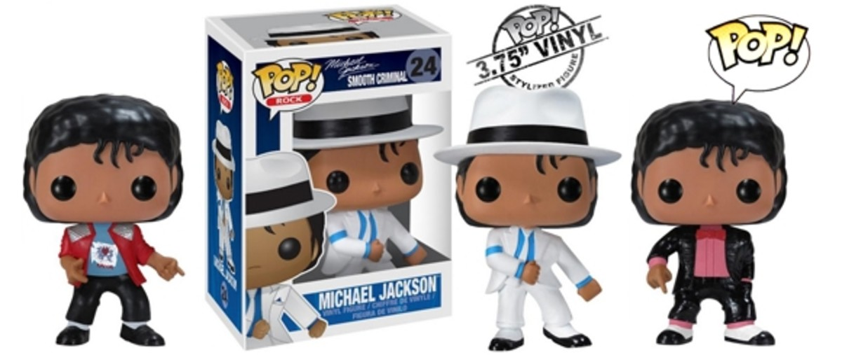 Set of 5 Michael Jackson Pop Rocks figures