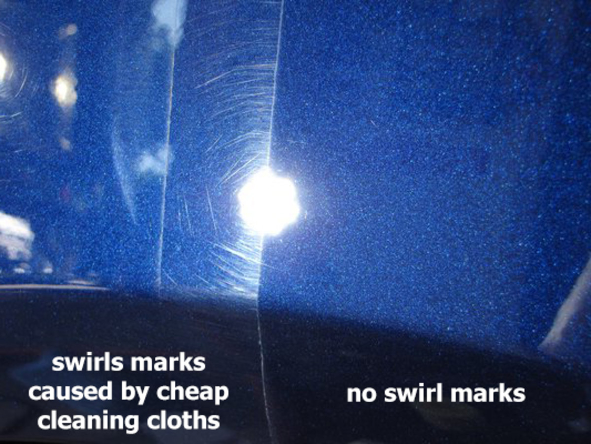 Swirl Marks vs No Swirl Marks Comparison