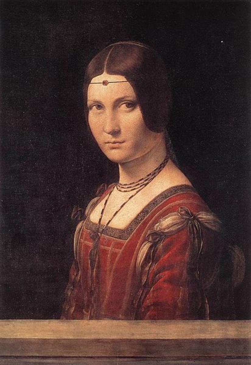 L. da Vinci, Portrait of a Lady (La Belle Ferronière) (1490 - 1495), Paris Musée du Louvre