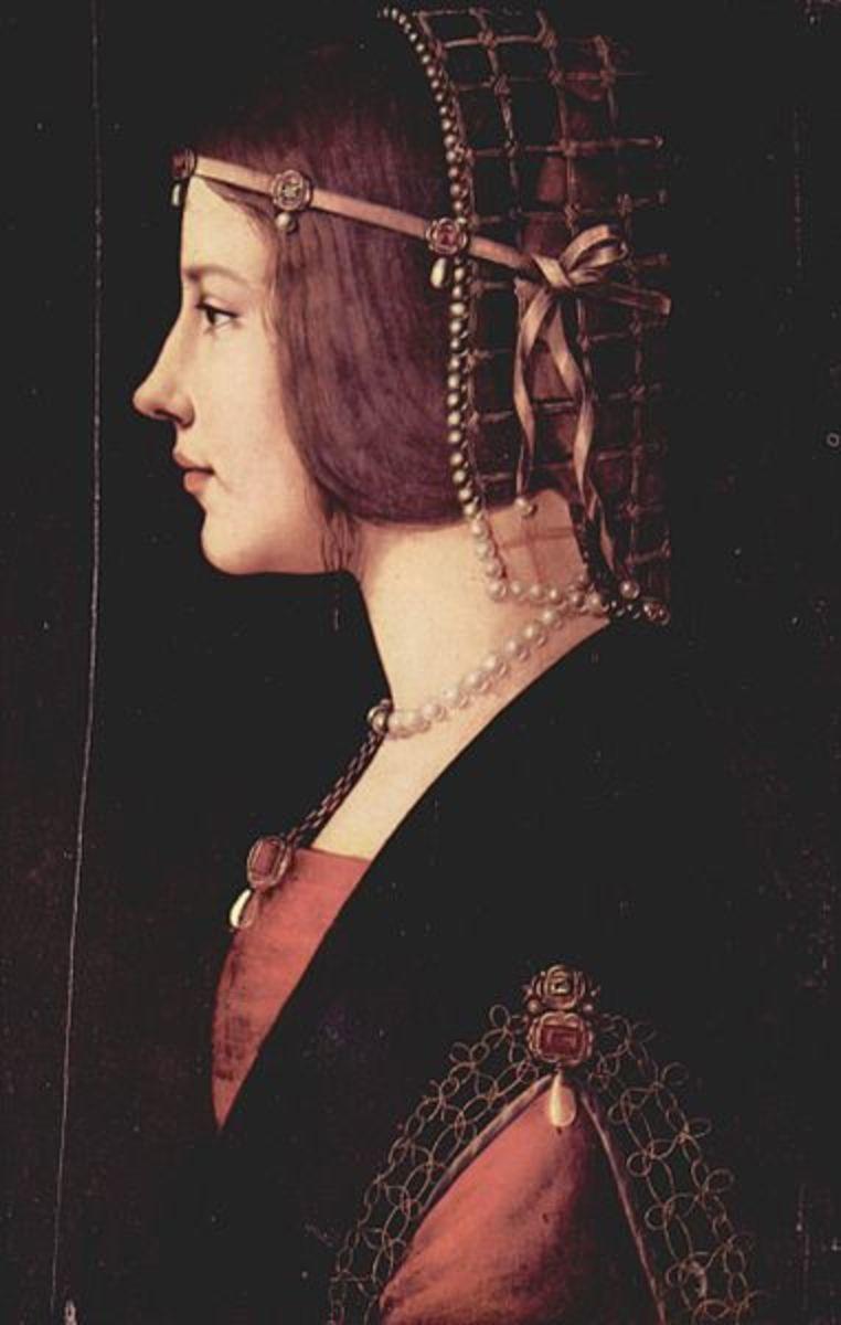 Ambrogio de Predis, Portait of a Lady (Beatrice d'Este?) (1490), Milano Pinacoteca Ambrosiana