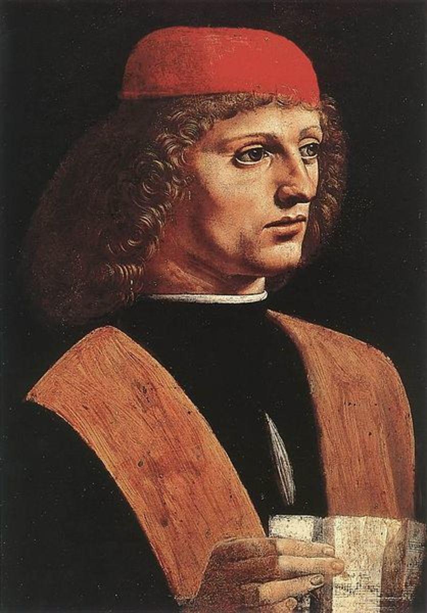 L. da Vinci, Portrait of a Musician (Franchino Gaffurio?), (a. 1485), Milano Pinacoteca Ambrosiana