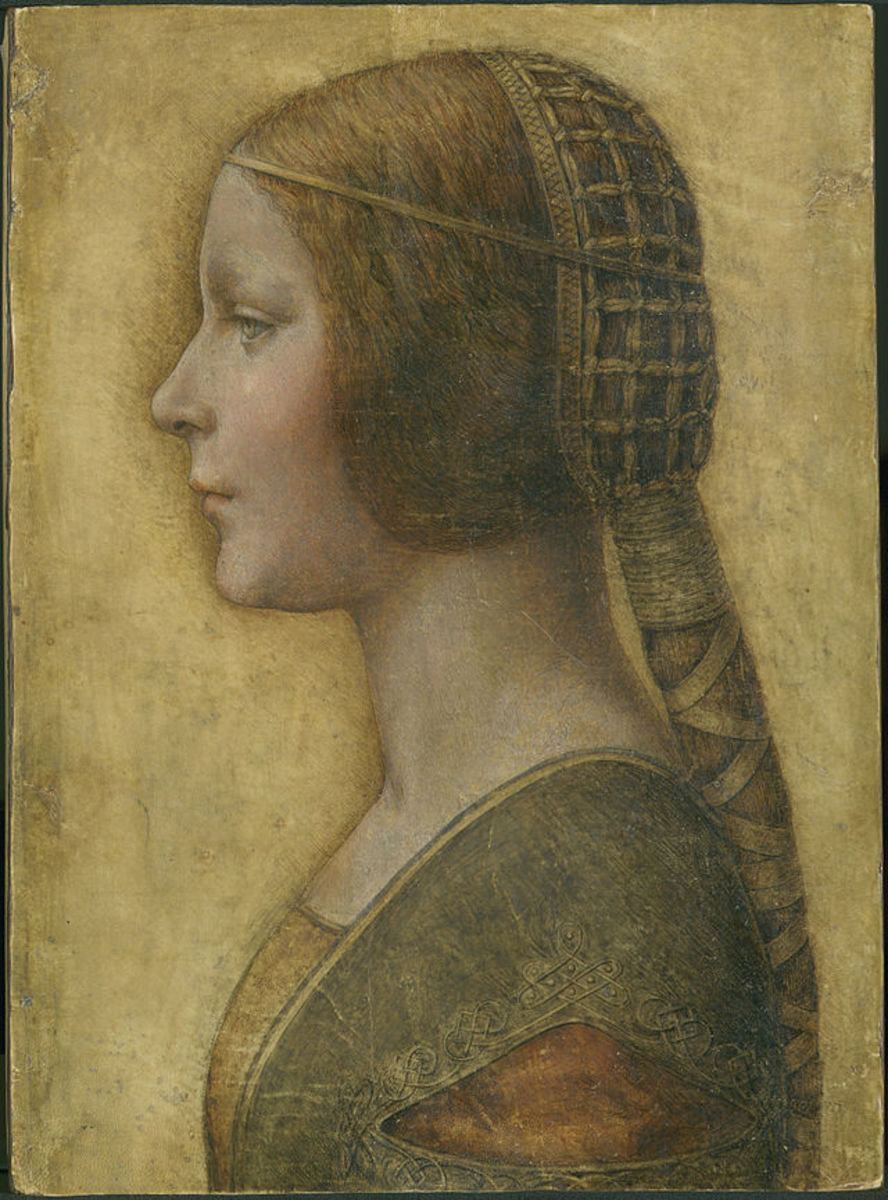 L. da Vinci (?), Portrait of a Young Fiancée (La Bella Principessa) (a. 1490), Private Collection
