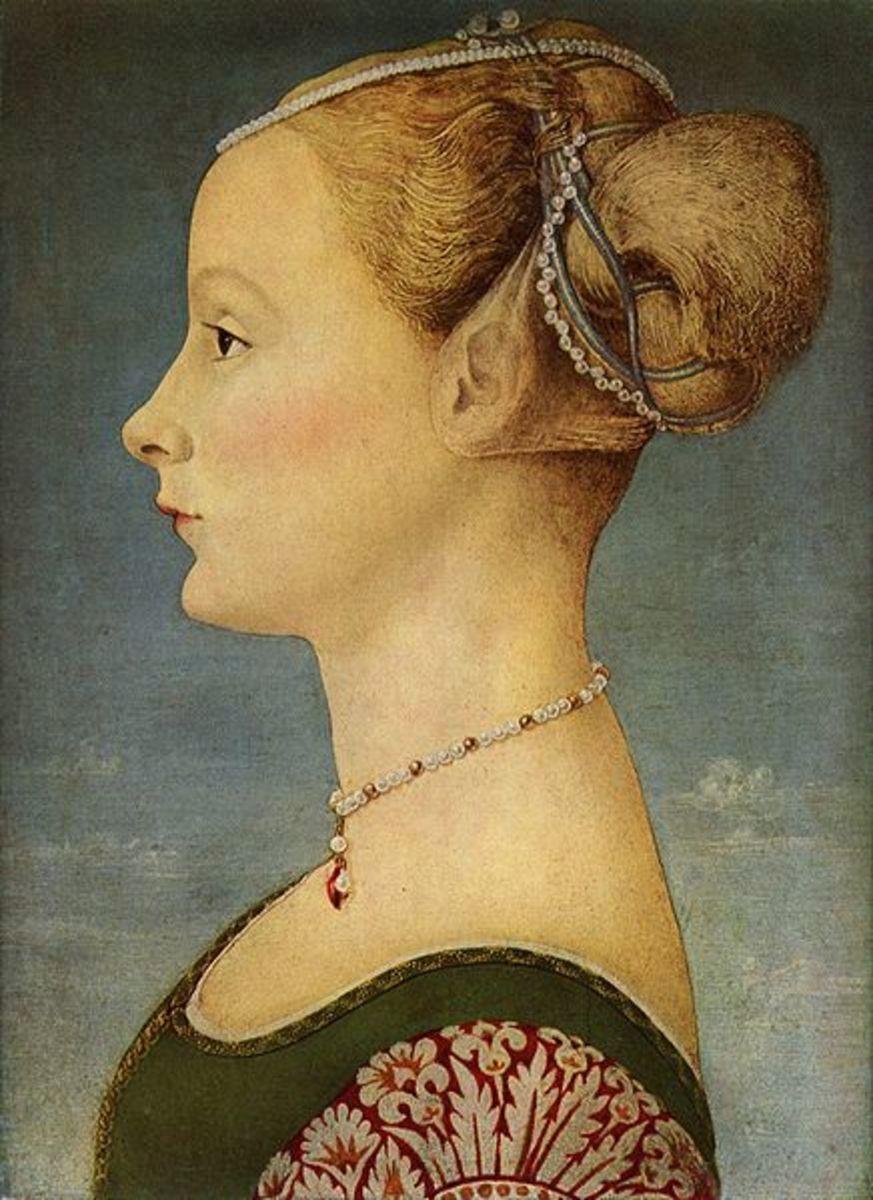 Piero del Pollaiolo (?), Portrait of a Young Lady, Milano Museo Poldi Pezzoli