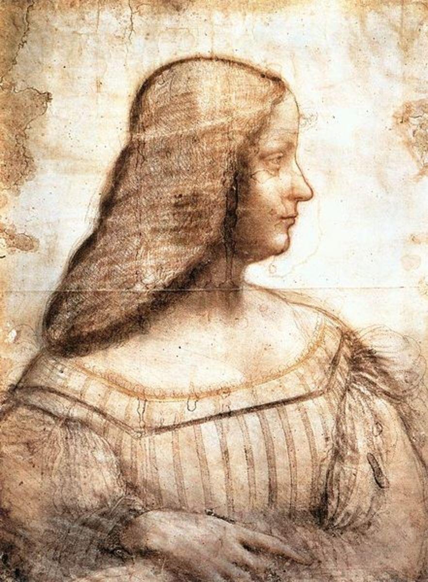 L. da Vinci, Portrait of Isabella d'Este (1500), Paris Musée du Louvre