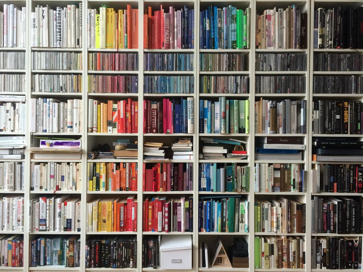 What a colourful array of books!
