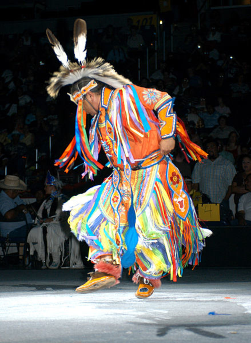 Grass dancer at the 2005 National Pow Wow.