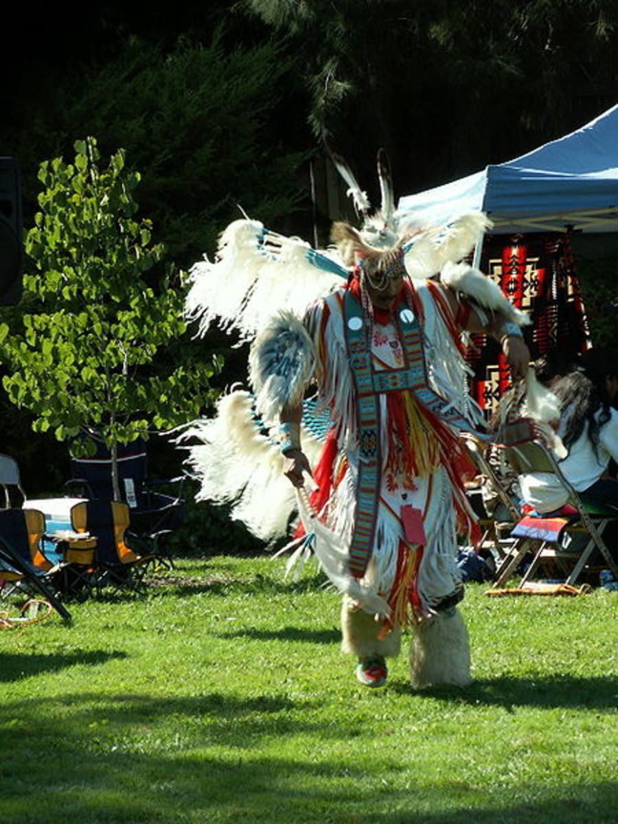 A Northern style Men's Fancy Dancer at the West Valley Powwow in Saratoga, California, October 2005.