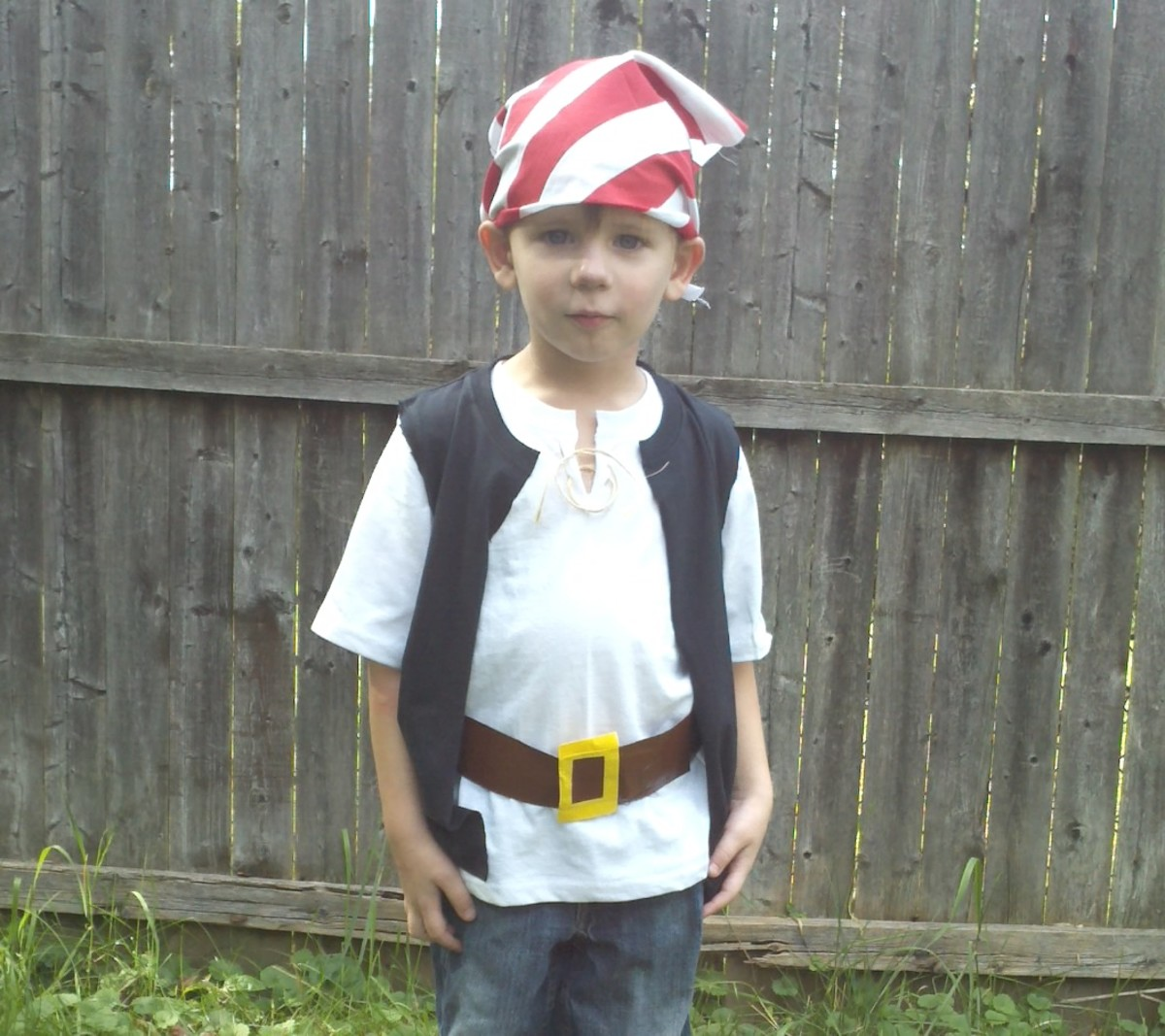 A pirate costume is easy to make.