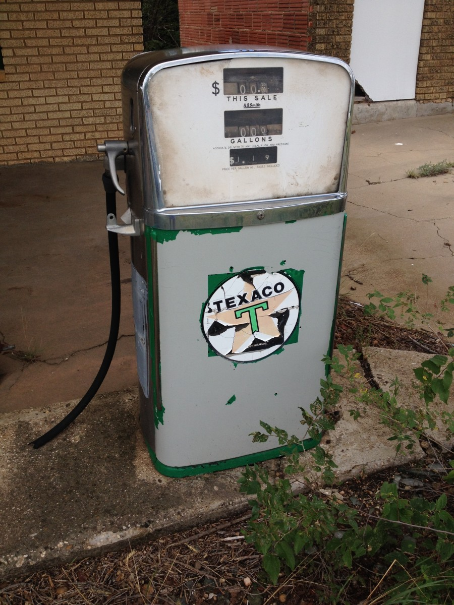 Route 66 old gas pump