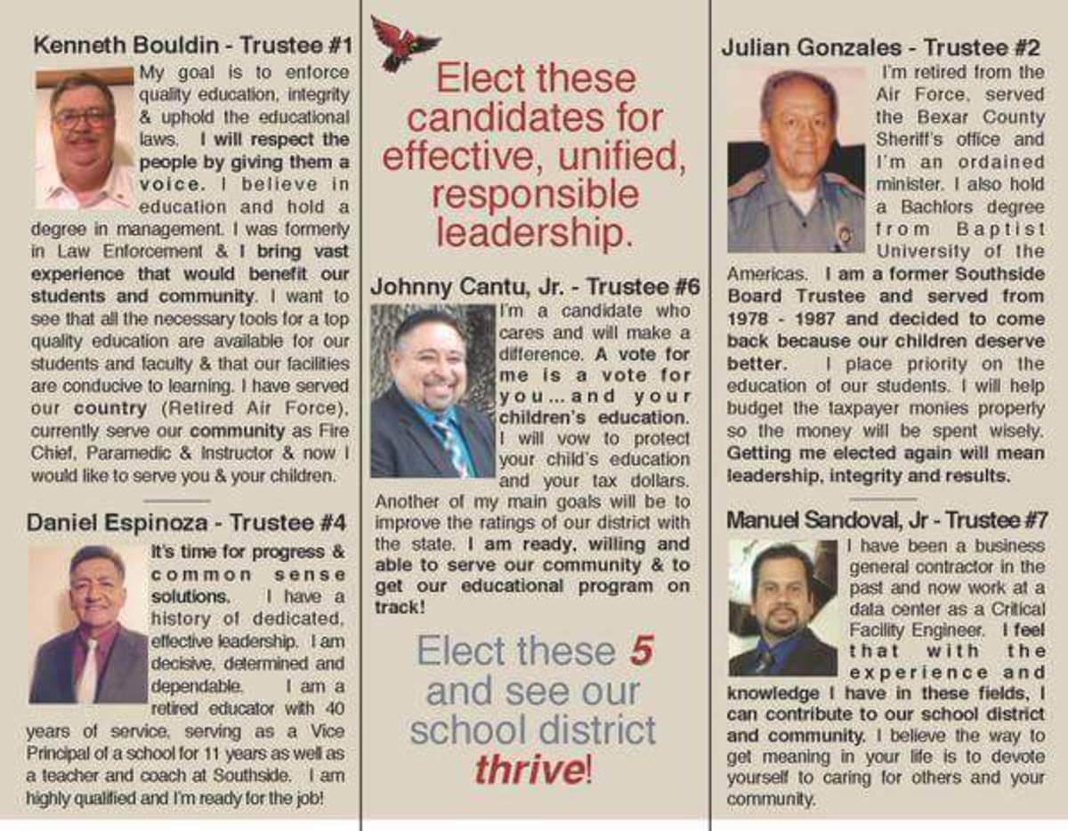 Southeast Bexar County Awareness: Southside ISD Elections --Cried Out for Change