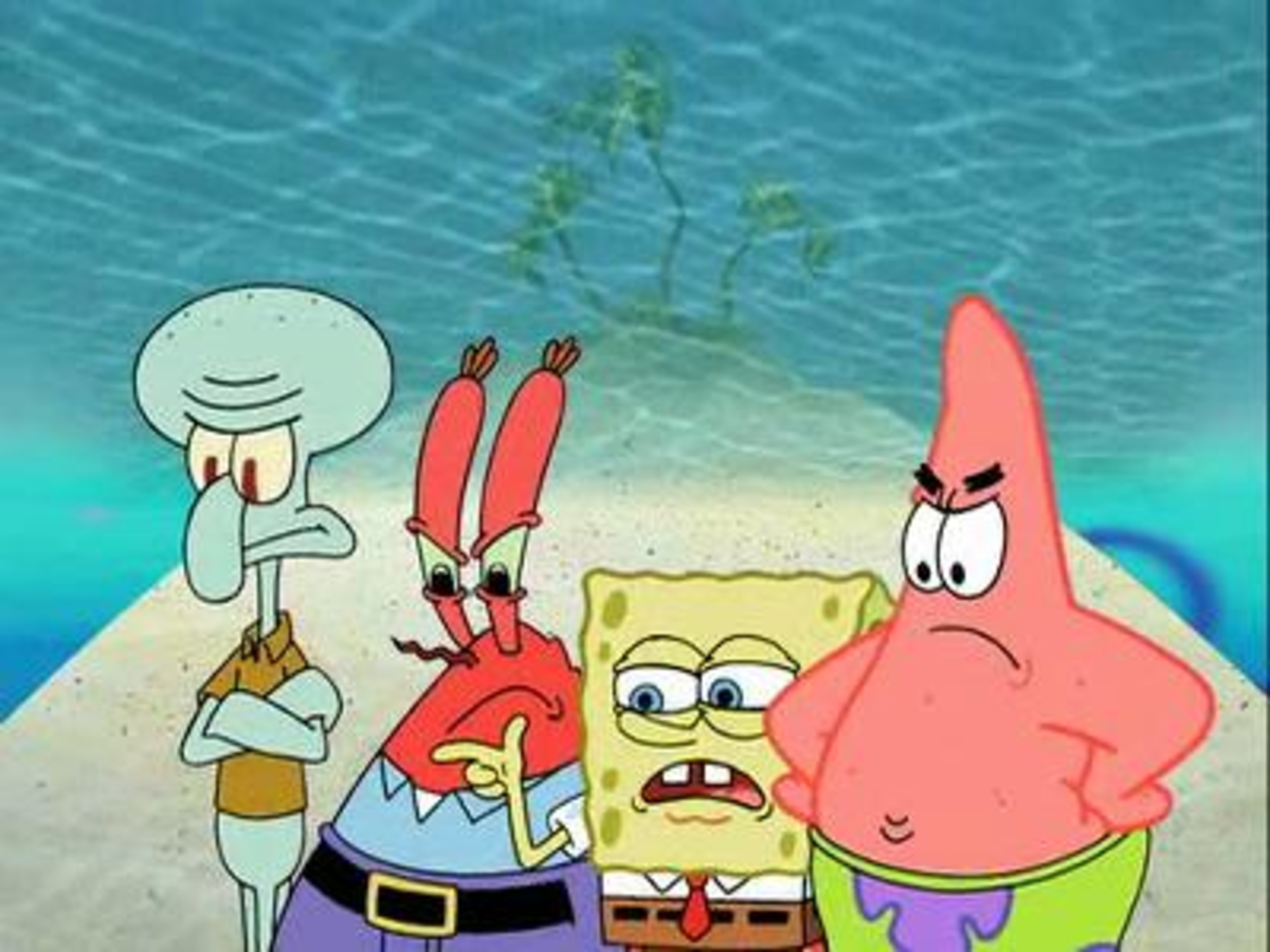 The four main characters on Sponge Bob Square Pants can all regenerate some or all of their body. So, why are they not happy?