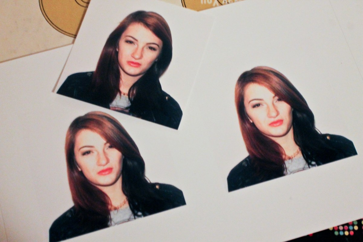 Awesome hair is awesome. Especially in passport photos.