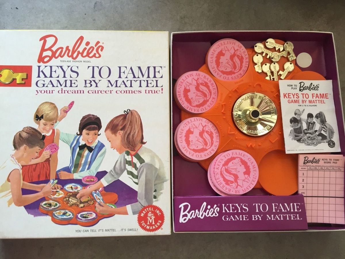Barbie's Keys to Fame game