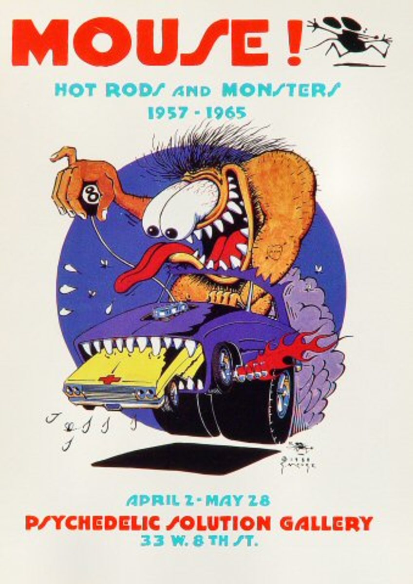 "Stanley Mouse ""Hot Rods and Monsters 1957 - 1965"" Psychedelic Solution Gallery April 2, 1988 Poster Art by Stanley ""Mouse"" Miller"
