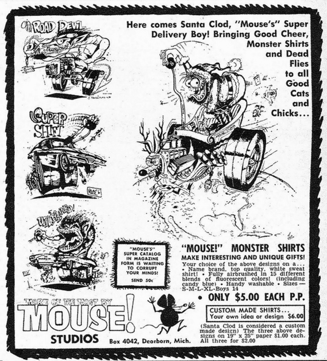 More of the Most by Mouse! Studios Advertising Mouse Monster Shirts $5.00