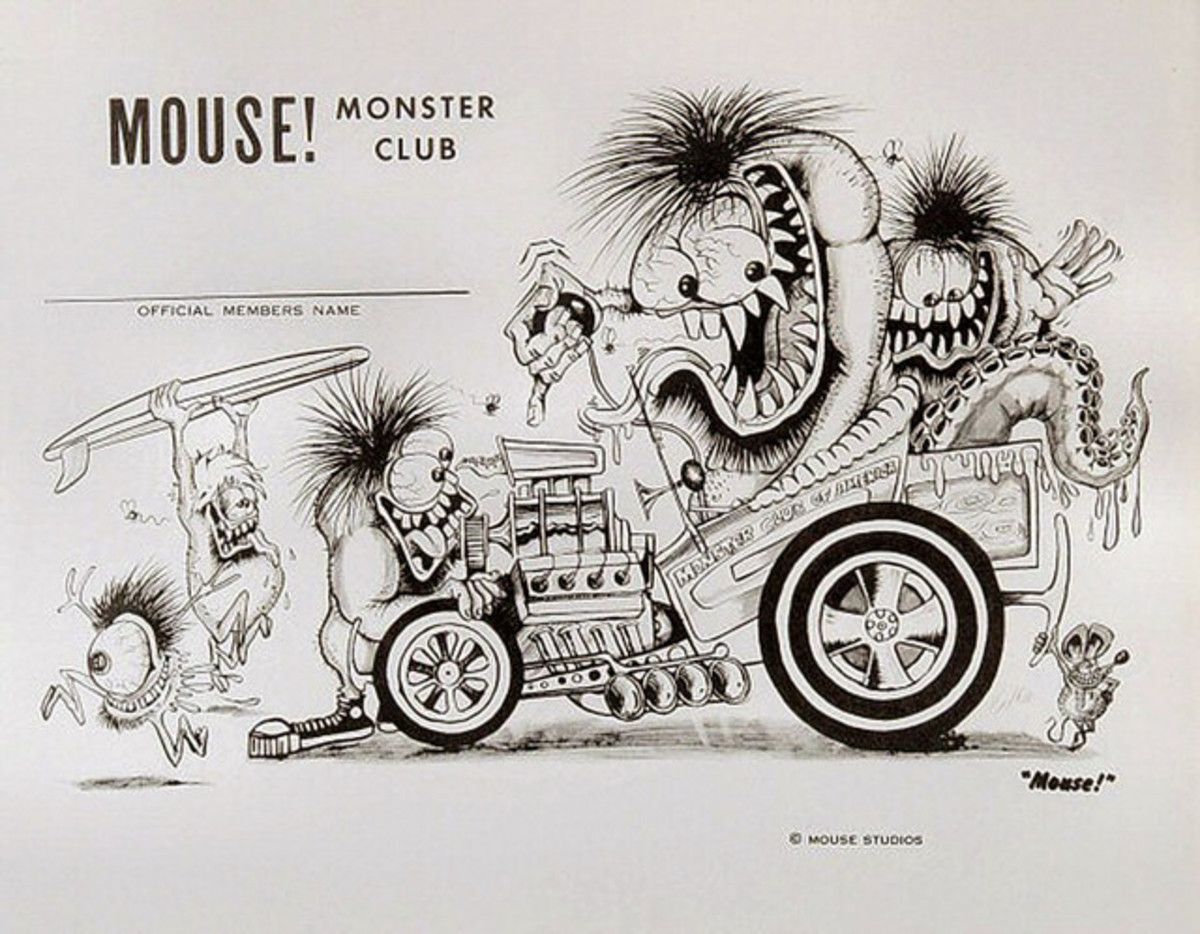 Mouse Hot Rod Monster Club Official Member Card by Mouse Studios