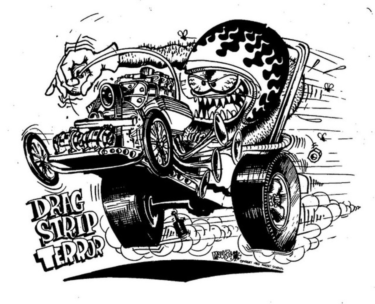 Drag Strip Terror T- Shirt Design by Stanley Mouse