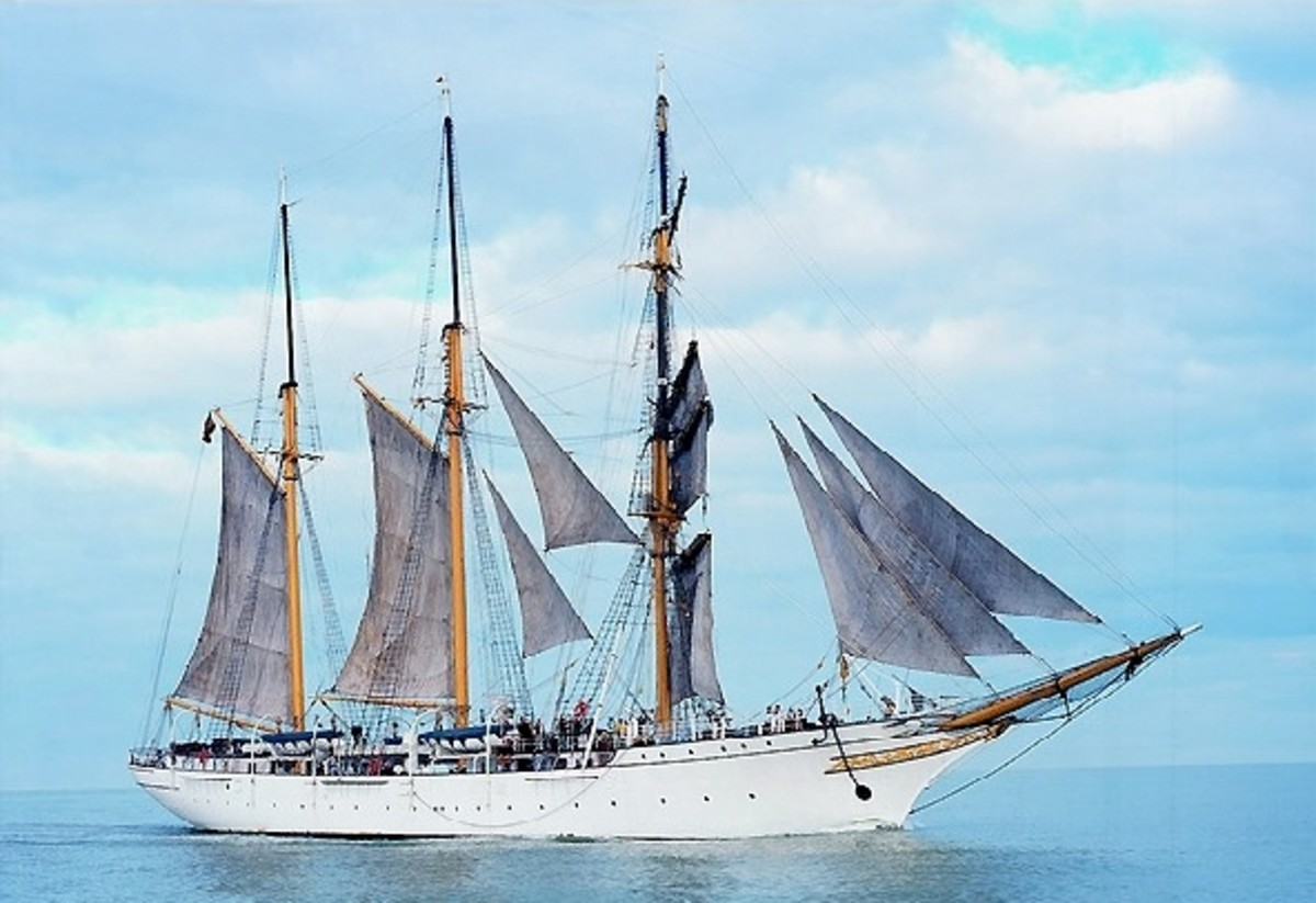 The MERCATOR another ship built at Leith and now a museum ship at Ostend in Belguim