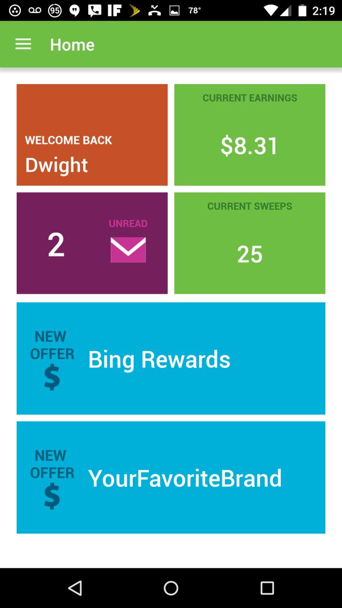 HomePage of App