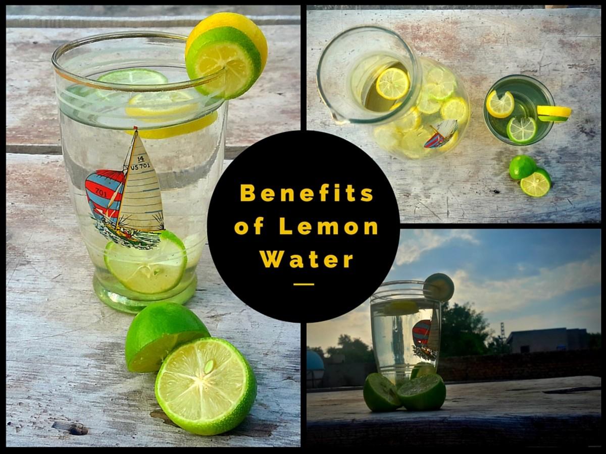 Lemon infused water has many health benefits.