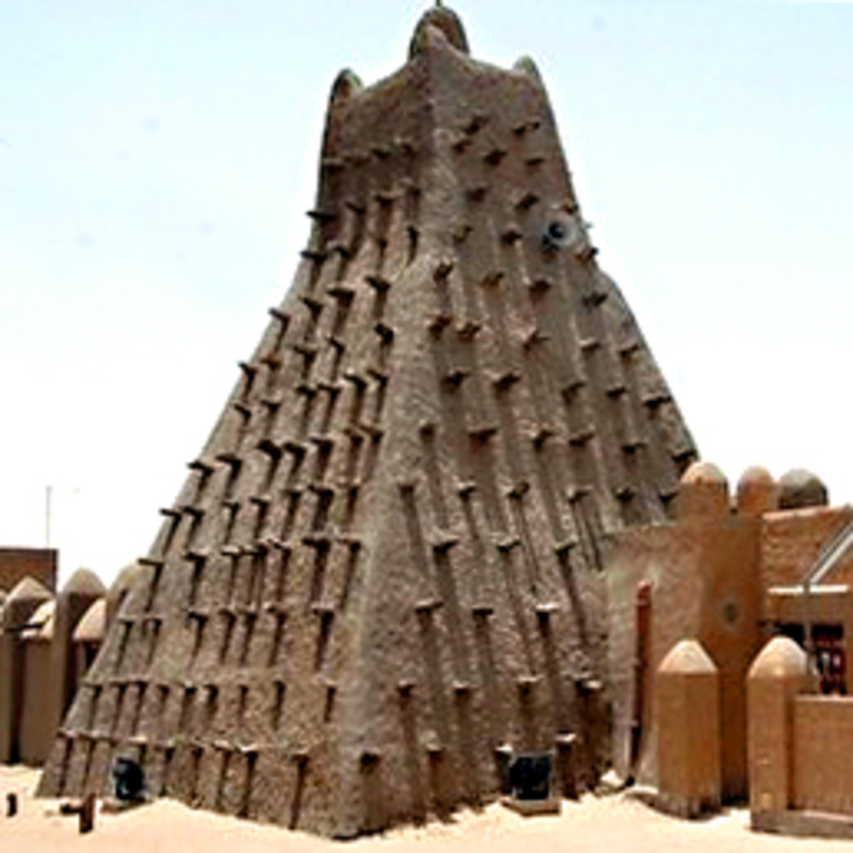 The Mausoleum of Sidi Mahmoud - one of the wonderful mud brick tombs of Timbuktu, destroyed by Ansar Dine in 2012