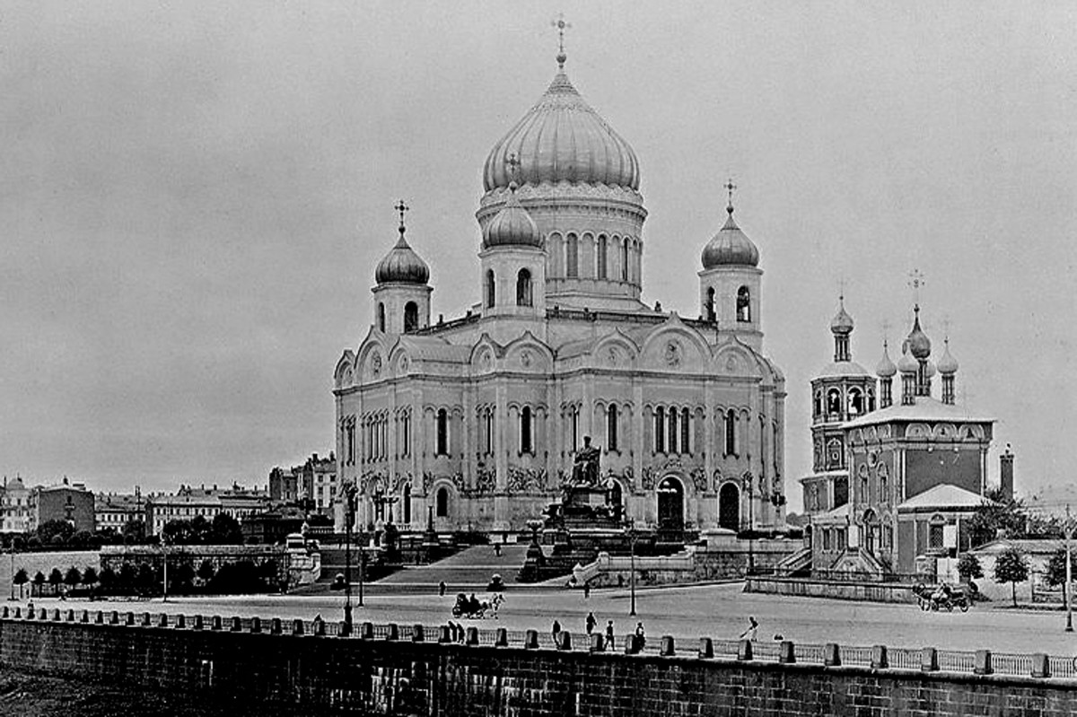 The Cathedral of Christ the Saviour - built in 1860, but destroyed in 1931