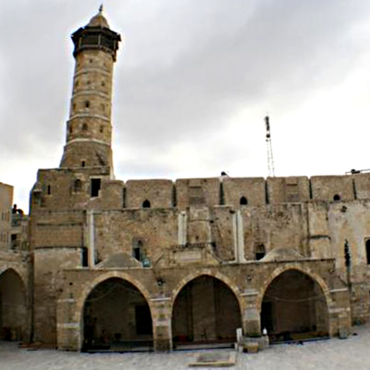 The al-Omari Mosque was the oldest religious site of the Gaza Strip in Palestine. Israel bombed it in 2014